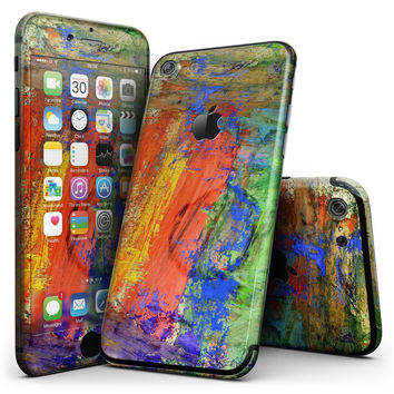 Abstract Bright Primary and Secondary Colored Oil Painting - 4-Piece Skin Kit for the iPhone 7 or 7 Plus