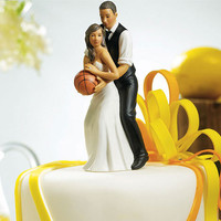 Basketball Cake Topper | Bride Groom Cake Topper | Bride Groom Figurine