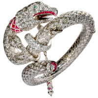 The Gypsy Rose Lee Diamond and Ruby Serpent Bracelet
