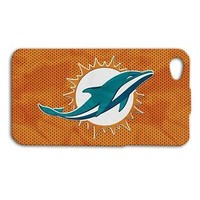 Miami Dolphins Football Sport Phone Case iPhone 4 4s 5 5c 5s 6 Plus + Cover iPod