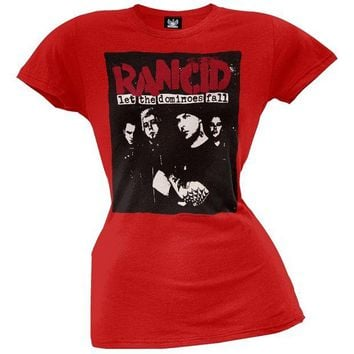 VONE05Y Rancid - Let the Dominoes Fall Juniors T-Shirt