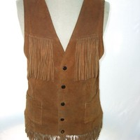 VTG~60s~SUEDE~FRINGED~HIPPIE VEST~BY JO-O-KAY~PEACEOUT | eBay