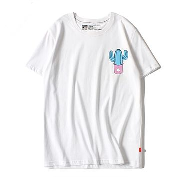 Cactus Print Short Sleeve T-Shirt White