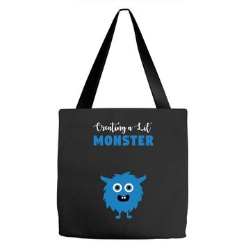 Creating A Lil Monster Baby Boy Tote Bags