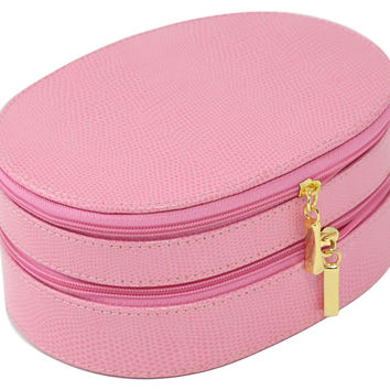 Leather Jewelry Box, Pink, Jewelry Boxes & Chests
