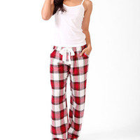 Plaid Pants Pajama Set