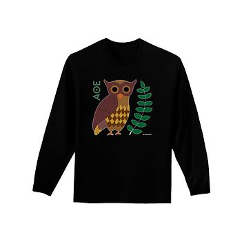 Owl of Athena Adult Long Sleeve Dark T-Shirt by TooLoud