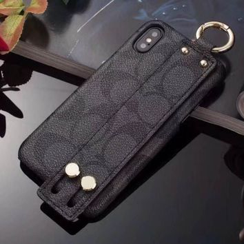 COACH Fashion iPhone Phone Cover Case For iphone 6 6s 6plus 6s-plus 7 7plus 8 8plus X-4