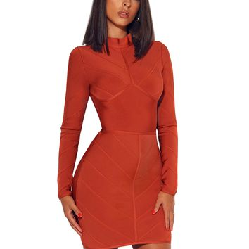 HONEY COMB BANDAGE DRESS