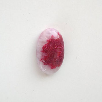 Raspberry Red Onyx Agate Cabochon 30mm Oval Shape Natural Stone Cab Jewelry Design Wire Wrap Jewelry Supply Stone Setting Bezel Stone Jewel