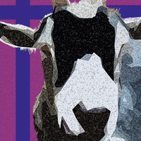 Pygmy Goat Pop Art Photography Print Plum ~ With Love From Wendy ~ by AstonAcresDachshunds