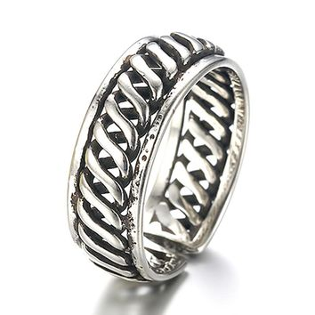 Silver Plated Helical Opening Ring