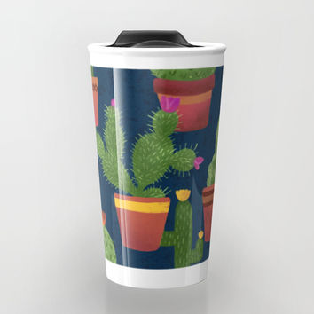 Terra Cotta Cacti Travel Mug by Noonday Design