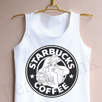 Starbucks Little Mermaid Ariel - Tank Top , Tank , Cute Tank Top , Starbucks Tank Top ,  Little Mermaid Tank Top , Disney Tank top