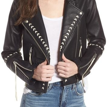 BLANKNYC Whipstitched Faux Leather Moto Jacket | Nordstrom