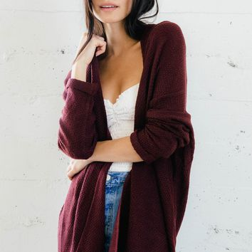 Juliette Cardigan - Burgundy