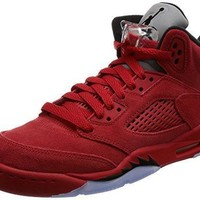 Air Jordan 5 Retro BG Red Suede lifestyle kids sneakers university red/black NEW 44088