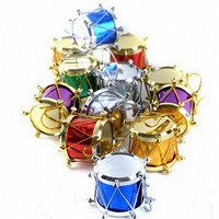 High quality 12PCS Drums Shaped Merry Christmas gift Tree Ornaments Home decoration accessories Festival decoration