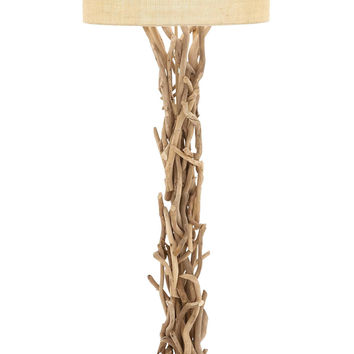 The Simple Driftwood Metal Floor Lamp