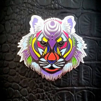 Bass Tiger Silver (Bassnectar Inspired Hat Pin)