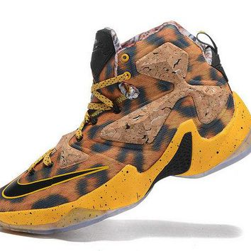 Popular Lebron 13 XIII Leopard Print Cheetah Tour Yellow Black Brand sneaker
