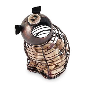 Oink Pig Cork Holder By True Brands