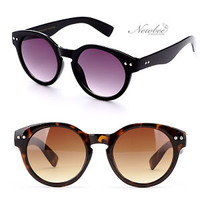 Key hole Style Dapper Fashion Circular Rounded Sunglasses Black Tortoise Vintage