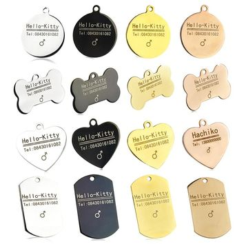 Hot Sale Pet Tags Personalized Dog Tag ID Free Engraving Pet Name Customized Cat Dog Puppy Collar Assessories