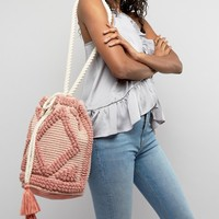 South Beach Drawstring Shoulder Bag In Lullaby Pink at asos.com