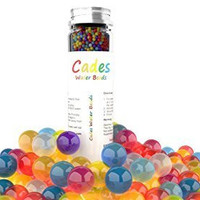 Cades Water Beads (2,500 Large Beads) - 9 Color Rainbow Mix! Great for Birthday, Office, Party, Vase Fillers, Home Decor, Montessori Learning, Sensory Bins, Great Party Favors! Satisfaction Guaranteed