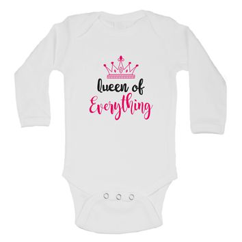 Queen Of Everything Funny Kids Onesuit