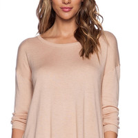 Apricot Long Sleeve Top with Lace