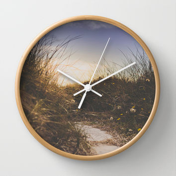 You make me smile Wall Clock by HappyMelvin