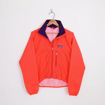 patagonia jacket, patagonia windbreaker jacket, 80s windbreaker, 90s windbreaker, red windbreaker, wind breaker, 80s track jacket, s m