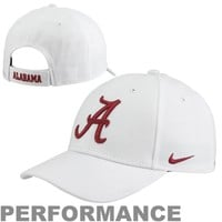 Nike Alabama Crimson Tide Dri-FIT Wool Classic Adjustable Hat - White