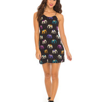 Garla Slip Dress in Elephant Multi by Motel
