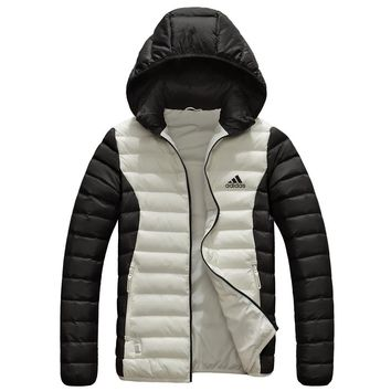 Adidas Fashion New Autumn And Winter  Keep Warm Couple High Quality Hooded Down Jacket