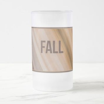 Fall Frosted Glass Mug