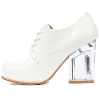 Jeffrey Campbell Shoe Bravery in White and Clear