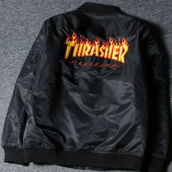 ICIKUN3 Thrasher Unisex Cardigan Jacket Coat