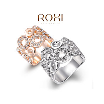 ROXI 2016 New Year Sales Christmas Gift Classic Luxury Rings Top Quality Genuine SWR crystal, romantic hand made fashion jewelry