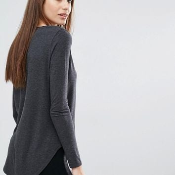 Abercrombie & Fitch Supersoft Curve Hem Top
