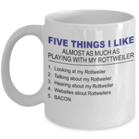 Five Thing I Like About My Rottweiler