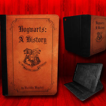 Harry Potter inspired Hogwarts A History Leather Case For iPad Mini