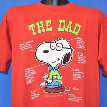 80s Snoopy The Dad t-shirt Extra Large