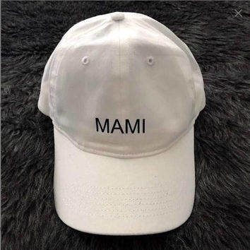 Mami White Baseball Hat