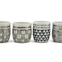 Patterned Ceramic Cup