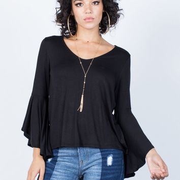 70's Bell Sleeve Blouse