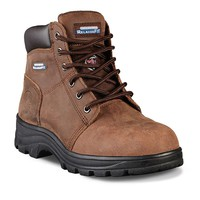Skechers Relaxed Fit Workshire Peril Women's Steel-Toe Work Boots (Brown)