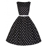 'Audrey' Polka Dot Vintage 1950's Swing Dress